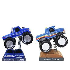 Discovery Bigfoot Monster Truck and Racer Bobblehead 2-pack