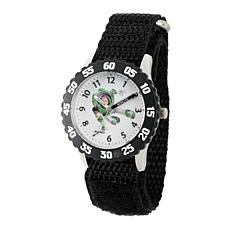 Disney Buzz Lightyear Kid's Time Teacher Watch w/ Black Nylon Strap