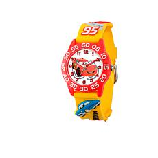 Disney Cars Kid's Yellow Strap Time-Teacher Watch