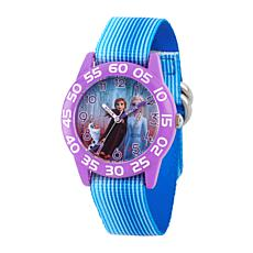 Disney Frozen 2 Elsa, Anna and Olaf Kids' Purple Watch with Blue Strap