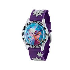 Disney Frozen Kid's Blue Dial Purple Strap Time-Teacher Watch