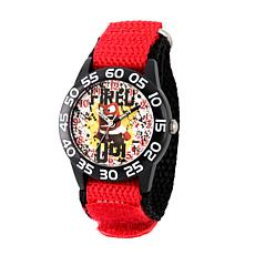 "Disney Inside Out ""Anger"" Kid's Red/Black Strap Time-Teacher Watch"
