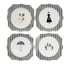 Disney Mary Poppins Returns Set of 4 Porcelain Plates