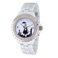 Disney Mary Poppins Women's Sparkle Alloy Watch w/ Alloy Bracelet