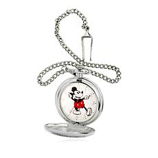 Disney Men's Mickey Mouse Moving Hands Pocket Watch