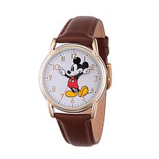 Disney Mickey Mouse Women's  Cardiff Alloy Watch with Leather Strap