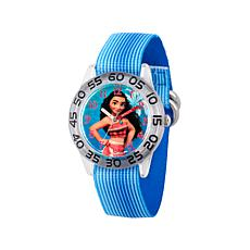 Disney Moana Kid's Blue Nylon Strap Time-Teacher Watch
