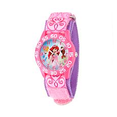 Disney Princess Kid's Pink Time Teacher Watch w/ Printed Stretch St...