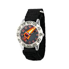 "Disney The Incredibles ""Dash"" Kid's Black Strap Time-Teacher Watch"