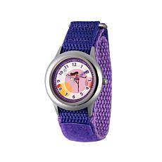 "Disney The Incredibles ""Violet"" Kid's Silvertone Purple Strap Watch"