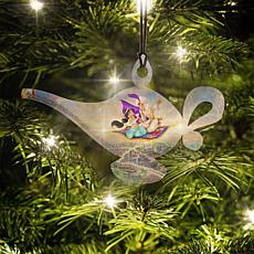 Disney Thomas Kinkade Aladdin Genie Lamp-Shaped Hanging Acrylic