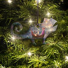Disney Thomas Kinkade Tangled Pascal-Shaped Hanging Acrylic