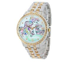 Disney Women's Ariel 2-tone Crystal-Accented Watch