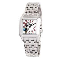 Disney Women's Minnie Mouse Silvertone Square Dial Bracelet Watch