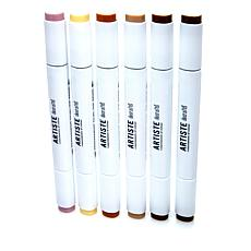 docrafts Dual Tip Markers 6-pack - Natural