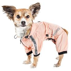 Dog Helios Torrential Shield Adjustable Full Body Dog Raincoat- Medium