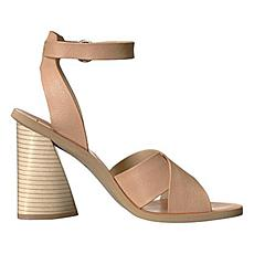 Dolce Vita Athena Leather Chunky-Heel Dress Sandal