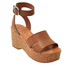 Dolce Vita Linda Leather Cork Wedge Platform Sandal