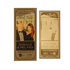 Donald & Melania President & First Lady 24K Gold Aurum