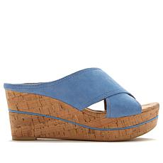 Donald J. Pliner Dacota X-Band Slip-On Platform Wedge Sandal