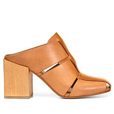 Donald J. Pliner Lilia Leather Wood-Heel Fisherman Mule