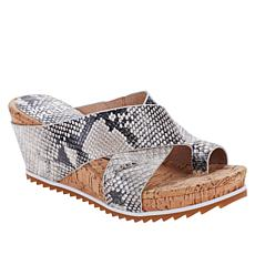 Donald J. Pliner Sisu Leather Toe Loop Platform Wedge