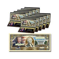 Donald Trump 45th President 22K-Plated $2 Bills - 10pk