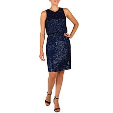 Donna Ricco Stretch Sequin Dress