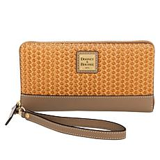 Dooney & Bourke Beacon Woven Leather Zip Wallet Wristlet