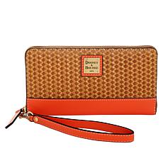 Dooney & Bourke Beacon Woven Leather Zip Wallet Wristlet