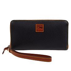 Dooney & Bourke Pebble Leather Large Zip-Around Wristlet Wallet