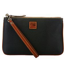 Dooney & Bourke Pebble Leather Large Zip Wristlet