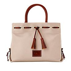 Dooney & Bourke Pebble Leather Tassel Tote