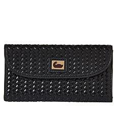 Dooney & Bourke Woven Leather Continental Wallet