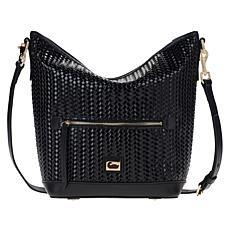 Dooney & Bourke Woven Leather Hobo Bag