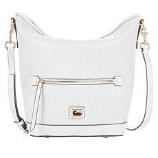 Dooney & Bourke Woven Leather Hobo Bag - White