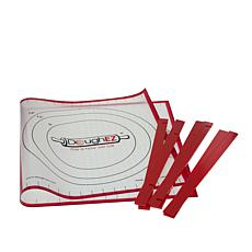 """DoughEZ 32"""" x 17-1/2"""" Pastry Mat with 6 Guide Sticks"""