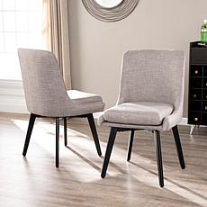Doverland Pair of Upholstered Swivel Chairs - Light Gray