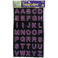 Dritz Iron-On Sequin Block Letters - Hot Pink