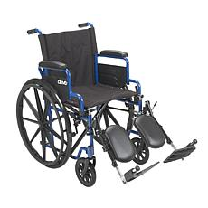 "Drive Medical Blue Streak Wheelchair w/ Elevating Leg Rests, 18"" Seat"