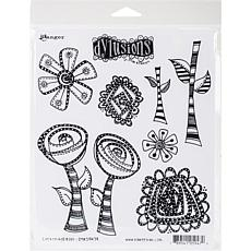 Dyan Reaveley's Dylusions Cling Stamp Collections 8.5X7 - Rosy