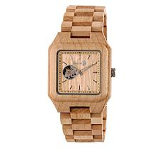 Earth Wood Black Rock Khaki Wood Bracelet Watch