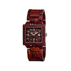 Earth Wood Culm Square Dial Dark Wood Bracelet Watch