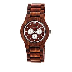 "Earth Wood Goods ""Bonsai"" Red Wood Bracelet Watch"