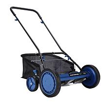 """EARTHWISE 18"""" 5-Blade Reel Mower with Grass Catcher"""
