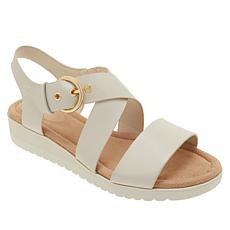 easy spirit Helix Leather Buckled Sandal