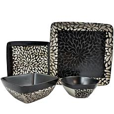 Elama Desert Bloom 16-piece  Dinnerware Set