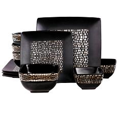 Elama Naina 16-piece Double Bowl Stoneware Dinnerware Set