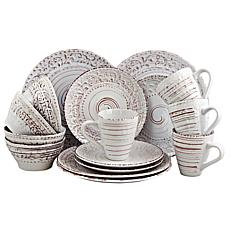 Elama Ocean Breeze 16-piece  Dinnerware Set - Cream