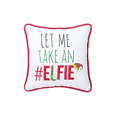 Elfie Embroidered Pillow